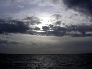 story sky over ocean