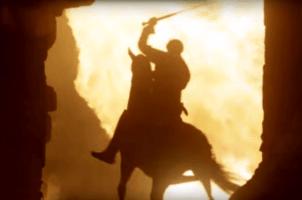 swordsman on horse